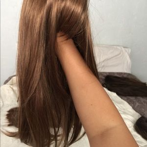 Warm Brown Synthetic Blend Wig